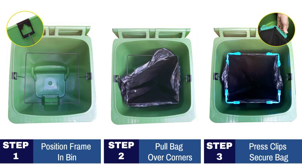 How to fit a trash bags in garbage bins in 3 steps