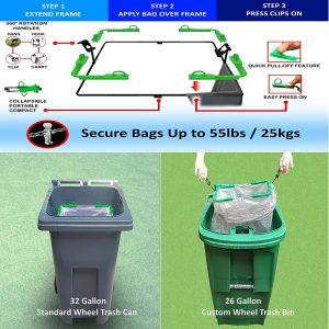 BagEZ_Trash_bag_holder_in_Green_bins