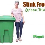 lady smiling next to green 65 bin text 2
