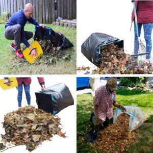 leaf bag holder & garden tool