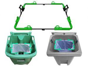bins and frame green