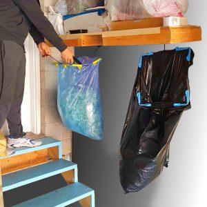 garage trash storage & organization hanging garbage bag holder