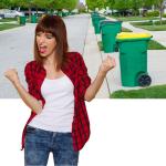 happy effortless clean green bins food waste