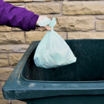 home food waste disposal in trash can