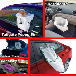 Car trash can bag holder BagEZ