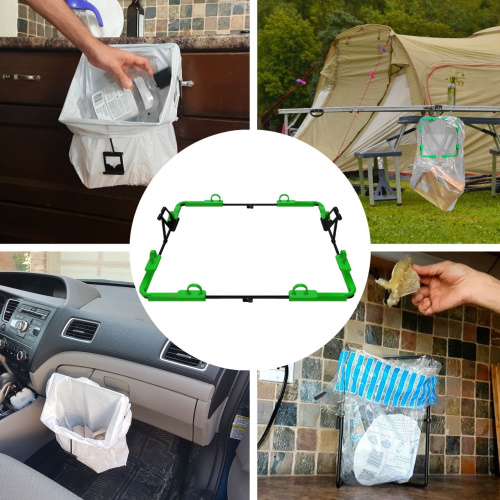 Trash & Plastic Grocery Bag Holder for garbage Storage, Cleanup & Events