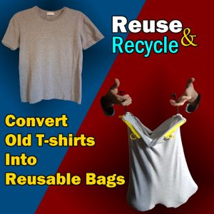 t shirt into shopping grocery bag website