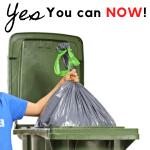 Oh Yes plastic bag in green bin Ottawa