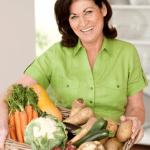 fresh veg lady smile plastic free