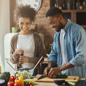 meal planning cooking together