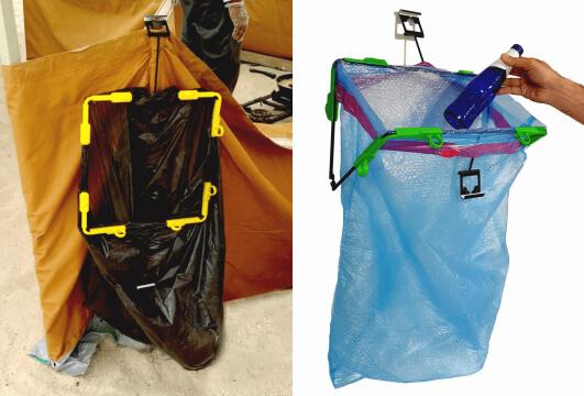portable trash bag holder outdoor garbage can