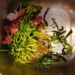 fruits, vegatables in garbage disposal sink