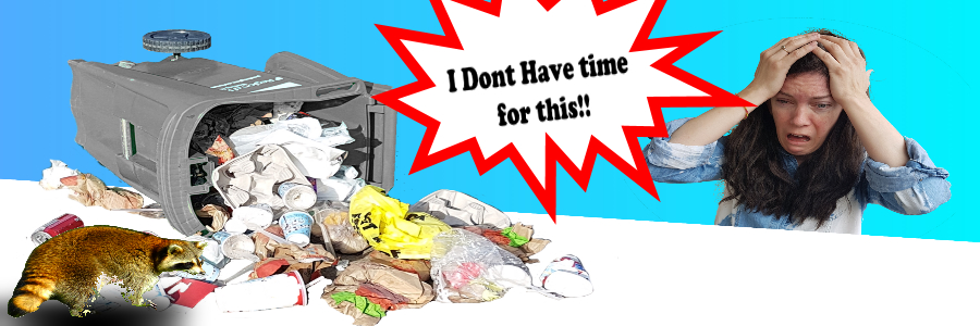 Pest knocking over trash cans